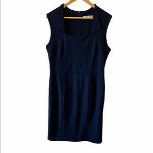 CLEO Petites Navy Stretch Fitted Lined Shift Dress